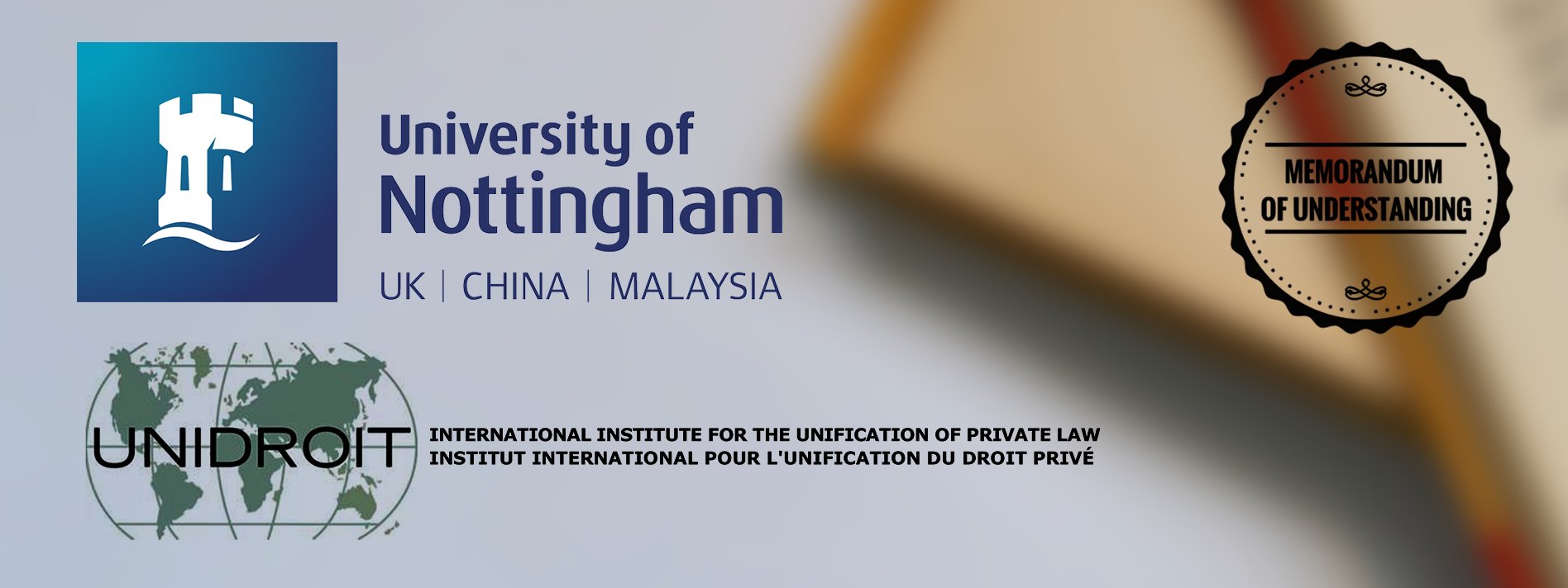 UNIDROIT SIGNS MOU WITH  THE COMMERCIAL LAW CENTRE OF THE UNIVERSITY OF NOTTINGHAM SCHOOL OF LAW