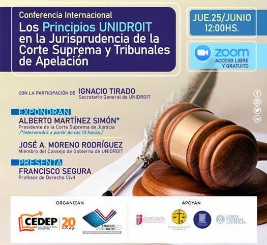 UNIDROIT Principles presented in an International Webinar in Paraguay