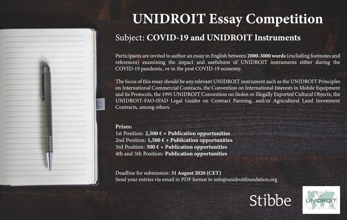 UNIDROIT COVID-19 Essay Competition