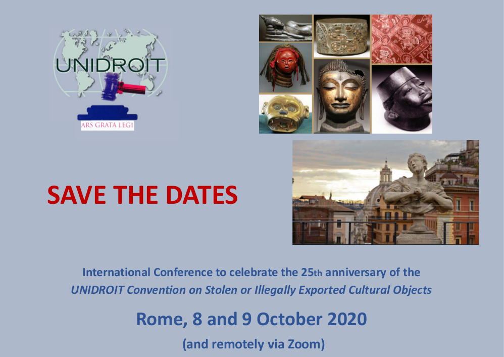 The 1995 UNIDROIT Convention turns 25 - Internationl Conference